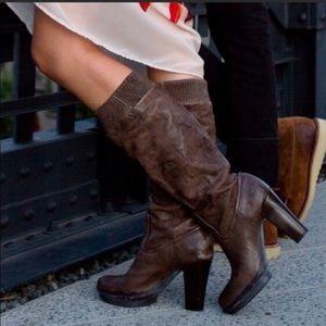 Frye Mimi Scrunch Boot Brown Size 9.5 M